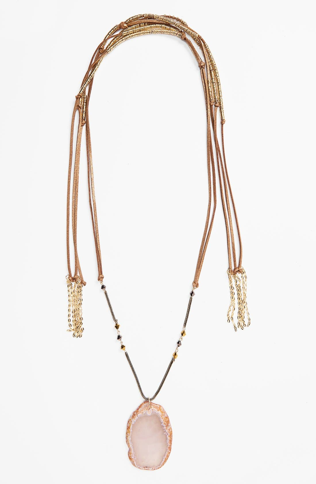 Alternate Image 2  - Topshop Layered Fabric Necklace