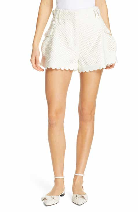 a5355b61a5d11 Self-Portrait Scalloped Crochet Shorts