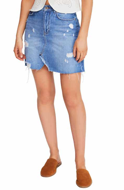 b9b292f6ac00 Free People Hallie Denim Miniskirt