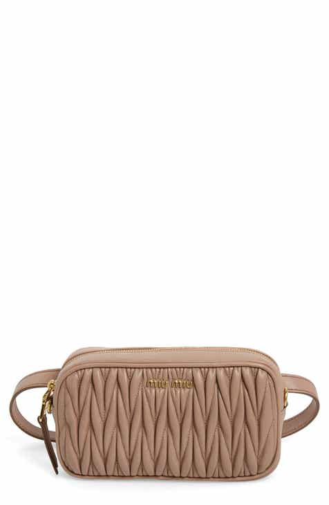 9f605695b72d Miu Miu Rider Matelassé Leather Belt Bag
