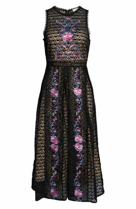 f5a360429b6 Foxiedox Lori Embroidered Lace Midi Dress