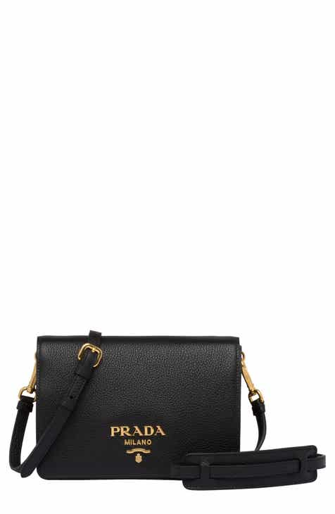c210910bb6c9 Prada Vitello Daino Double Compartment Leather Shoulder Bag
