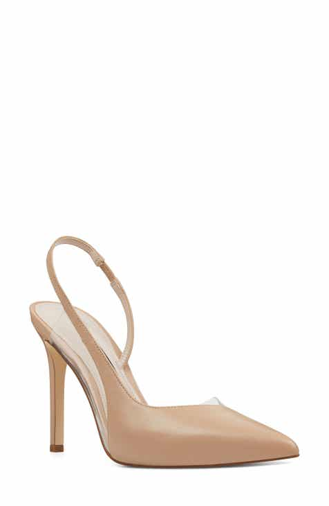 0068e4f34c2b Nine West Toffee Slingback Pointy Toe Pump (Women)