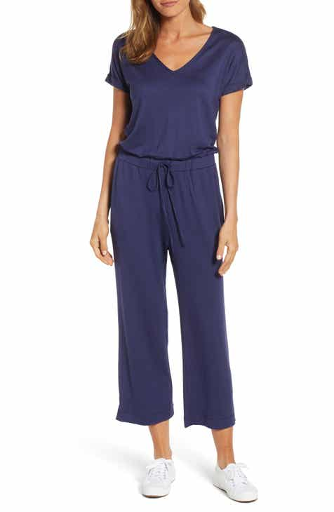 d9b64266df0 Caslon® V-Neck Knit Blouson Jumpsuit (Regular   Petite)