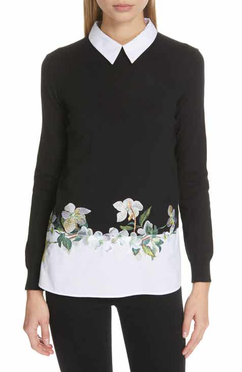 2f9b8f49ad119b Ted Baker London Floral Embroidered Layered Sweater