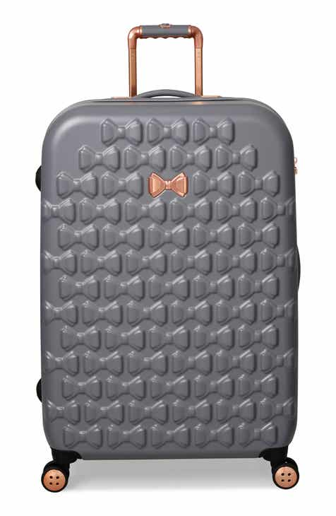 728209c376 Ted Baker London Medium Beau Bow Embossed Four-Wheel 27-Inch Trolley  Suitcase