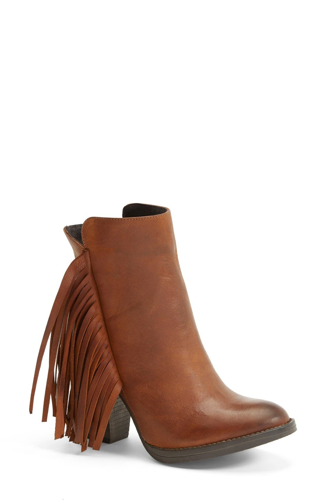 Alternate Image 1 Selected - Steve Madden 'Woodstck' Fringe Bootie (Women)