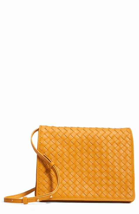 60efd44ce7 Bottega Veneta Intrecciato Leather Crossbody Flap Bag