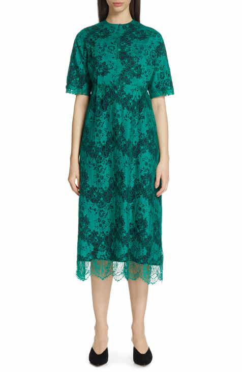 Karen Kane Floral Faux Wrap Sleeveless Midi Dress by KAREN KANE