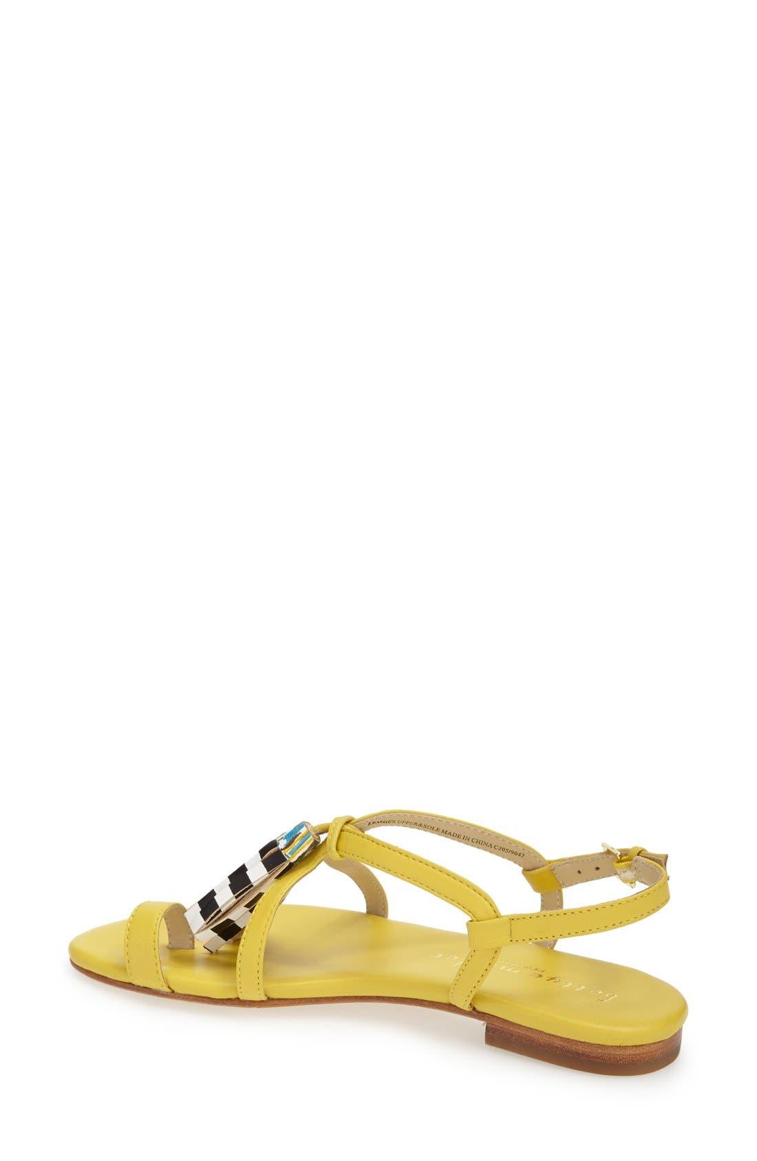 Alternate Image 2  - Bettye Muller 'Sasha' Leather Tassel Sandal (Women)