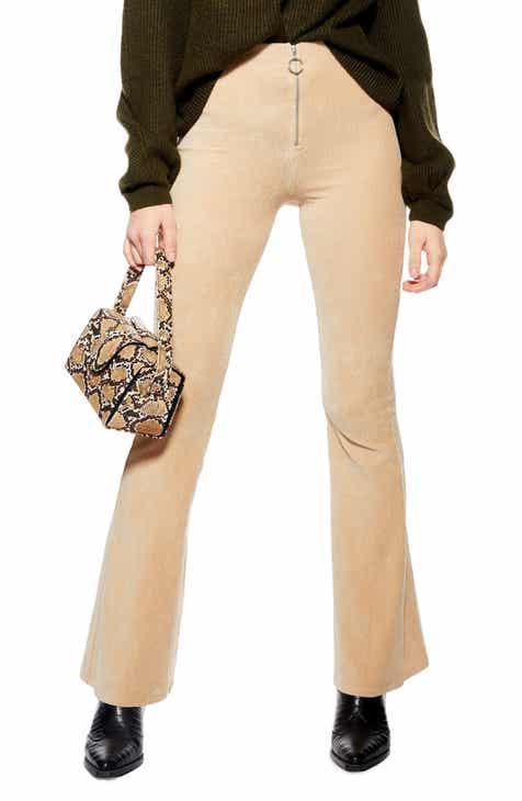 01d6e9566b0b Topshop Zip Flare Corduroy Pants (Regular   Petite)