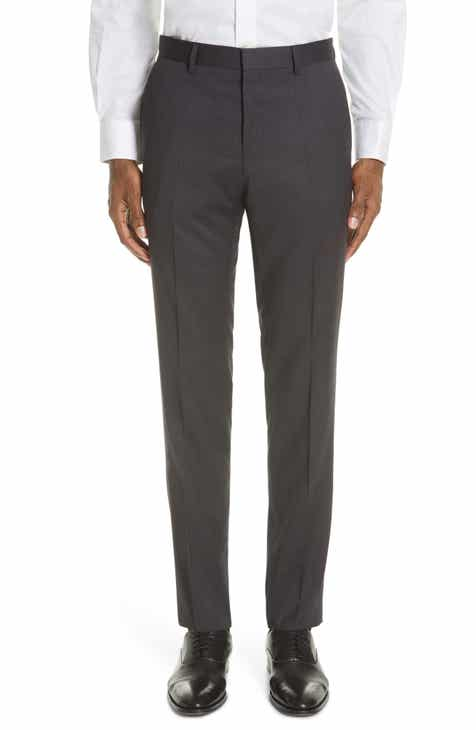 838606cf1 BOSS Genesis Flat Front Slim Fit Solid Wool Trousers