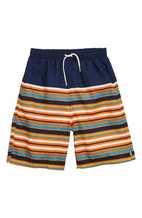 Flapdoodles Stripe Swim Trunks (Toddler Boys & Little Boys)