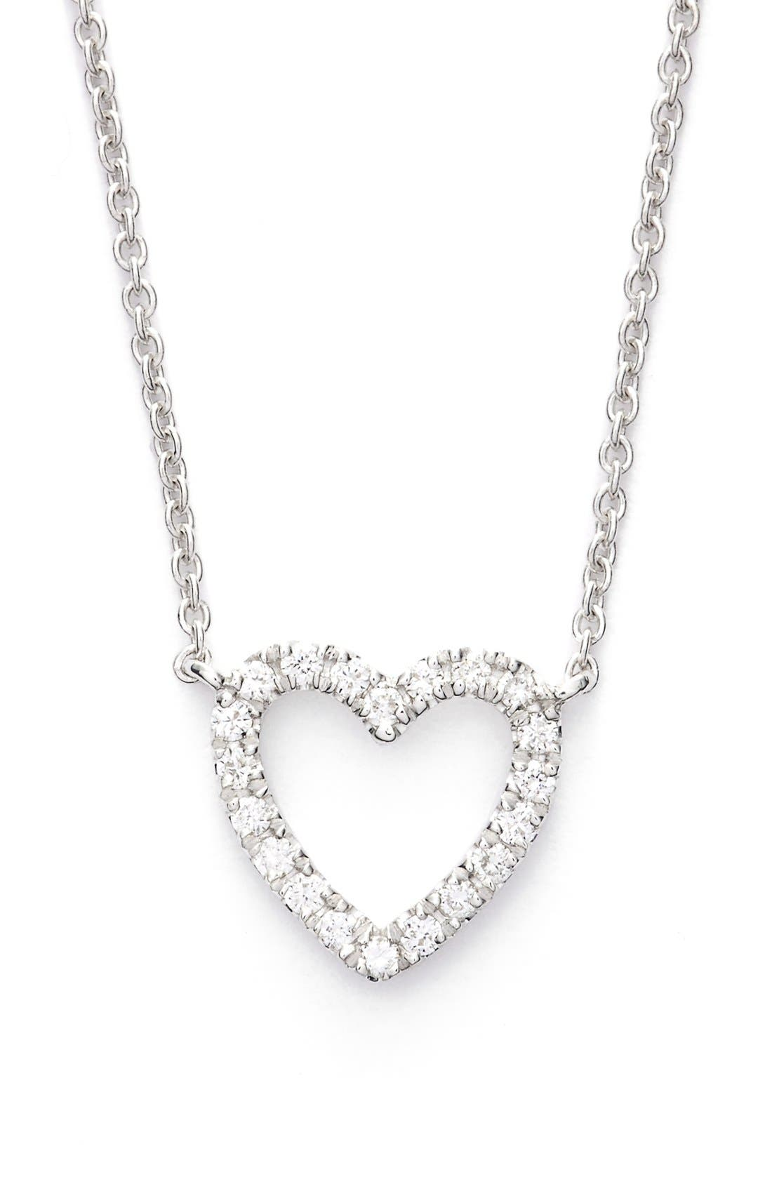 Alternate Image 1 Selected - Bony Levy Diamond Heart Pendant Necklace (Limited Edition) (Nordstrom Exclusive)
