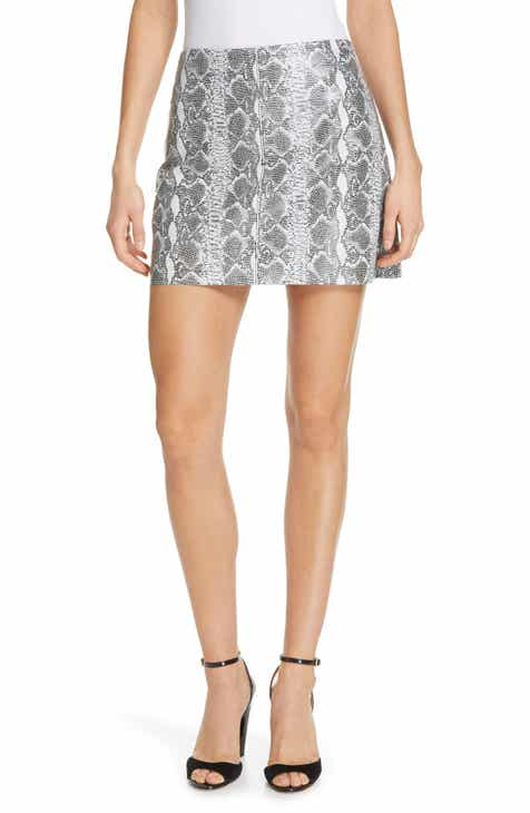 Alice + Olivia Elana Leather Miniskirt by ALICE AND OLIVIA