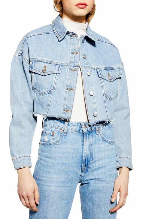 9638cff72866f Topshop Cropped Denim Jacket