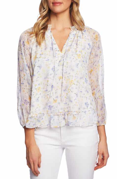 fd93dedf77092 CeCe Provence Floral Blouse