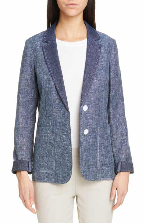 Lafayette 148 New York Vangie Sublime Space Dye Cotton & Linen Jacket by LAFAYETTE 148