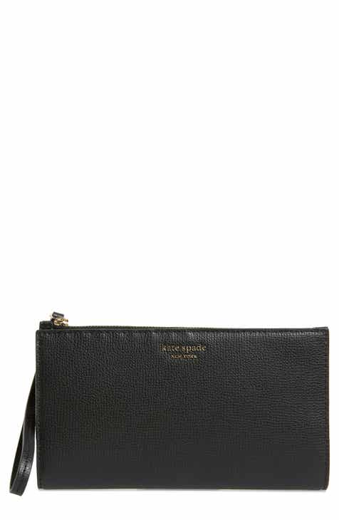 bb6d12c4c7 kate spade new york large sylvia leather wristlet