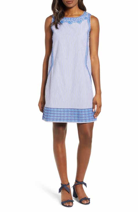 vineyard vines Embroidered Striped Shift Dress 46c7d4d05