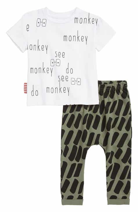 d2cb6c91e476 SOOKIbaby Monkey See T-Shirt   Pants Set (Baby)