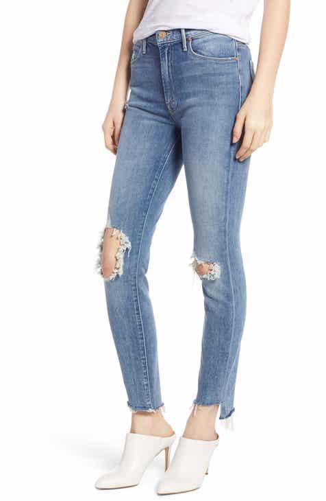 ebf1bffc559f0 MOTHER The Stunner Step Hem Ankle Skinny Jeans (Exposed Secret Sister)