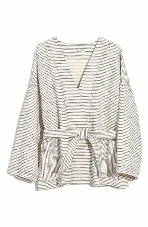 9da6d628efd4f1 Madewell Texture   Thread Kimono Jacket (Regular   Plus Size)