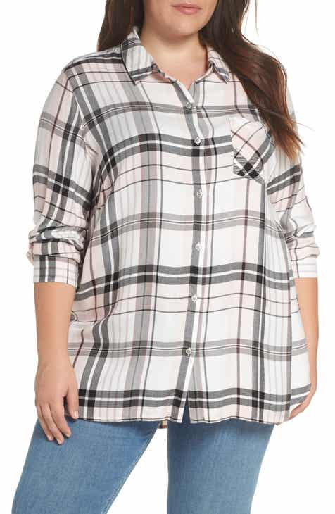 91d50532d3860 Caslon® Check Shirt (Plus Size)