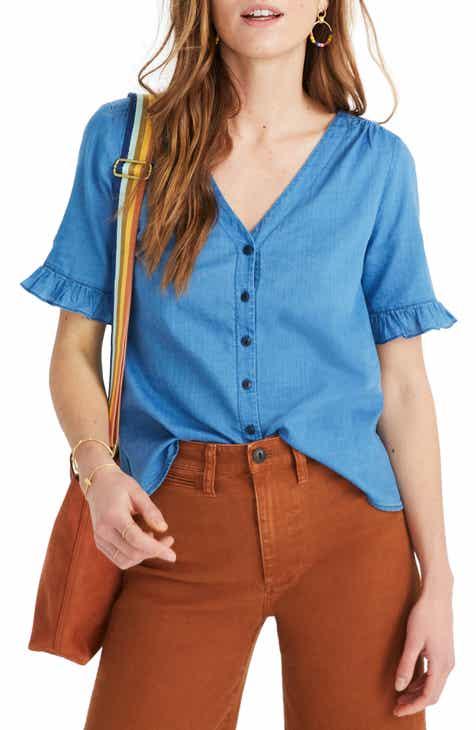 6dd98b76efbf8 Madewell Village Ruffle Sleeve Shirt