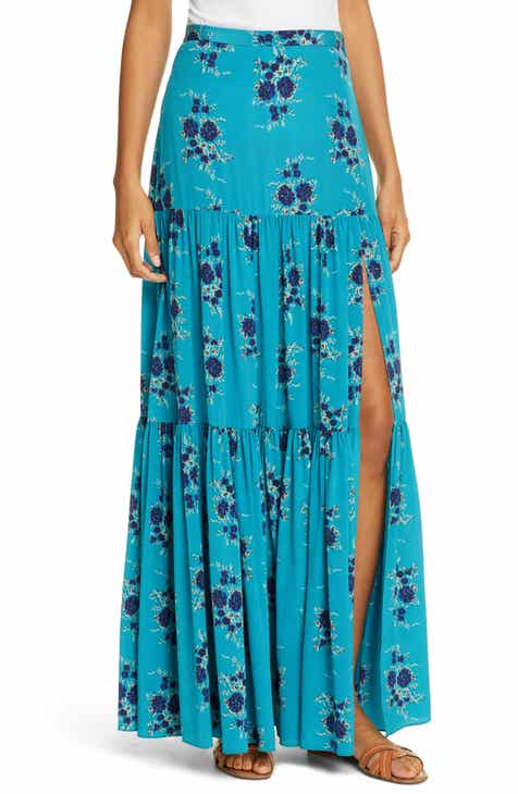 Veronica Beard Serence Floral Print Silk Maxi Skirt by VERONICA BEARD