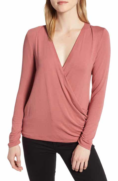 d184882299a Bobeau Faux Wrap Knit Top