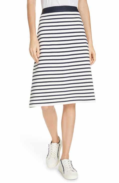 160d158cda89 Tory Sport Breton Stripe Tech Knit Skirt