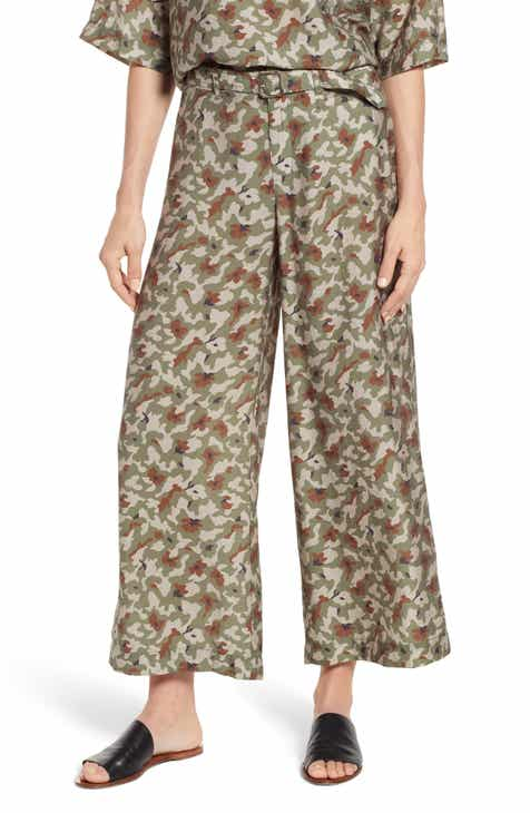 Lou & Grey Camo Print Wide Leg Pants by LOU AND GREY