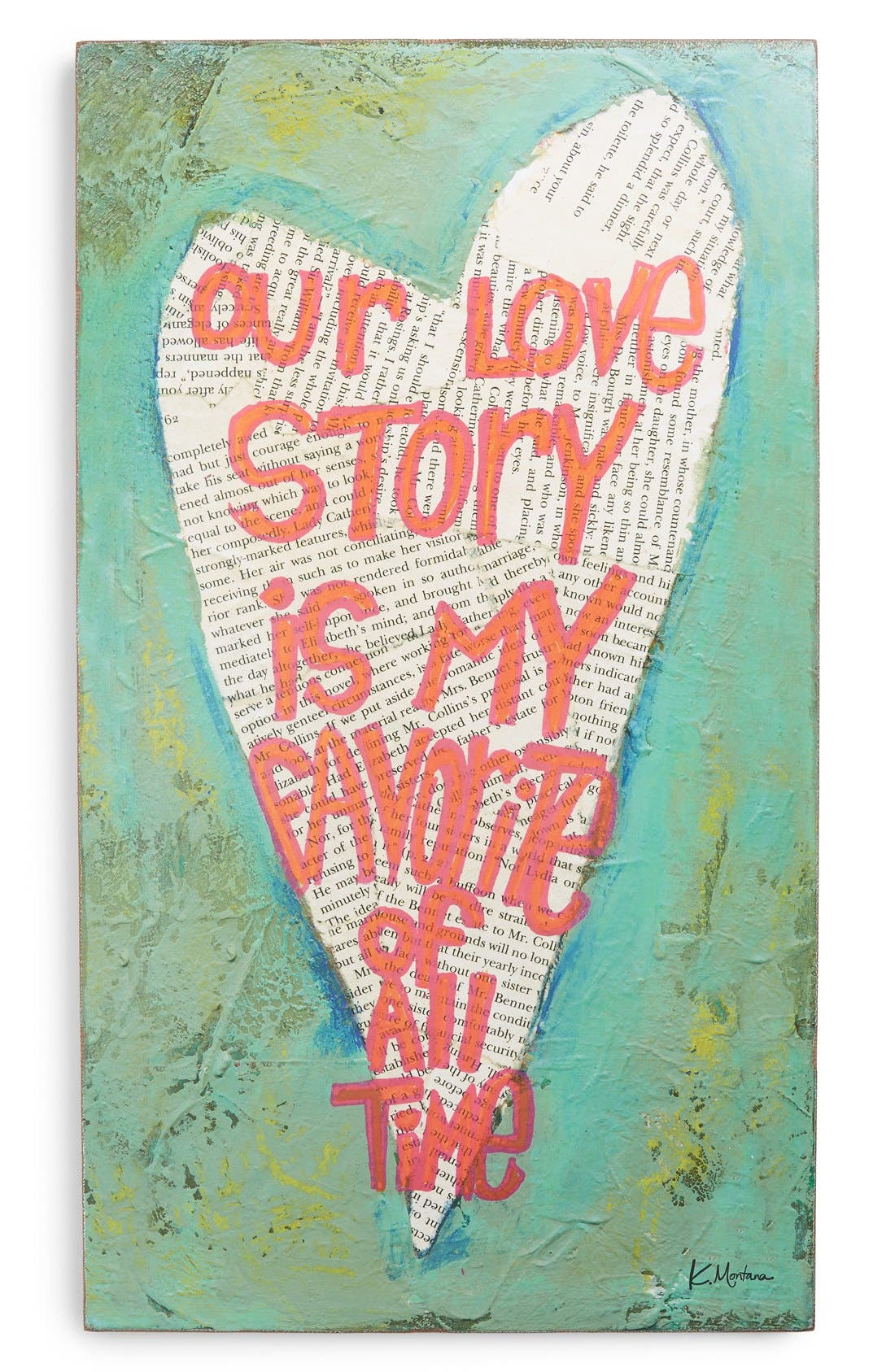 Alternate Image 1 Selected - Creative Co-Op 'Our Love Story' Wall Plaque
