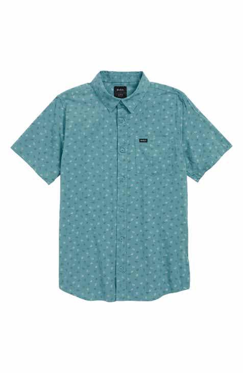 RVCA Jah Va Woven Shirt (Big Boys)
