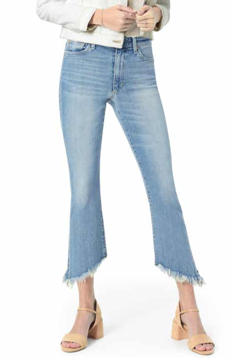 Joe's The Callie High Waist Frayed Crop Flare Jeans (Carrie) by JOES
