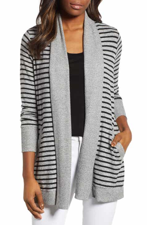 Gibson Cozy Ribbed Cardigan (Regular   Petite) 2d105779a