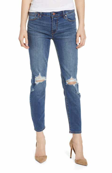 JEN7 by 7 For All Mankind Sateen Ankle Skinny Jeans by JEN7 BY 7 FOR ALL MANKIND