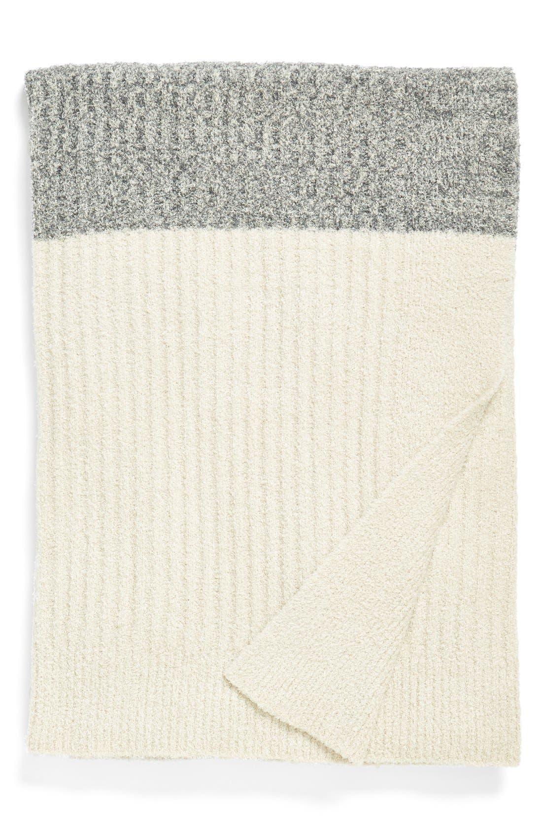 Alternate Image 1 Selected - Barefoot Dreams® Heathered Stripe Throw
