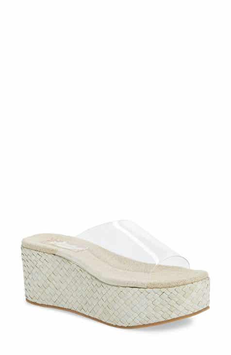 On Sale Band of Gypsies Wren Wedge Slide Sandal (Women)
