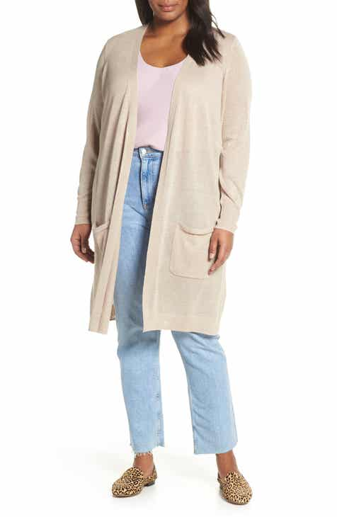 Halogen® Long Cardigan (Plus Size) by HALOGEN