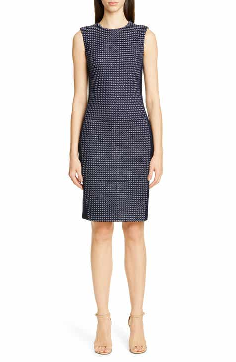 43498b8c7bf6 St. John Collection Dotted Inlay Tweed Knit Dress