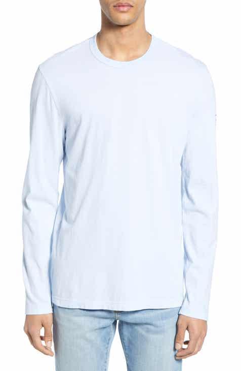 76174a242c2713 James Perse Lotus Graphic Long Sleeve Crewneck T-Shirt