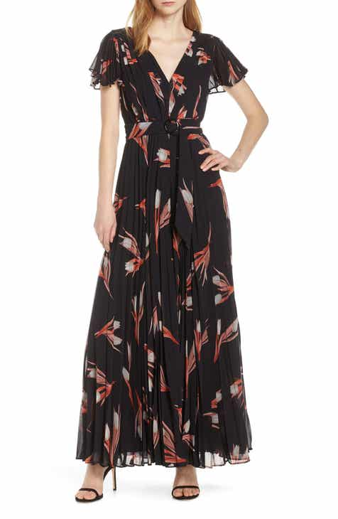 Fame and Partners Floral Print Pleated Jumpsuit by FAME AND PARTNERS