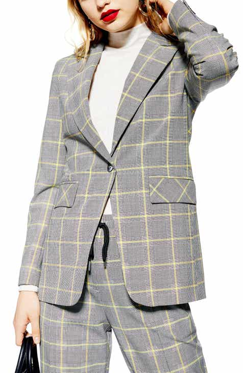 Topshop Windowpane Check Suit Jacket by TOPSHOP