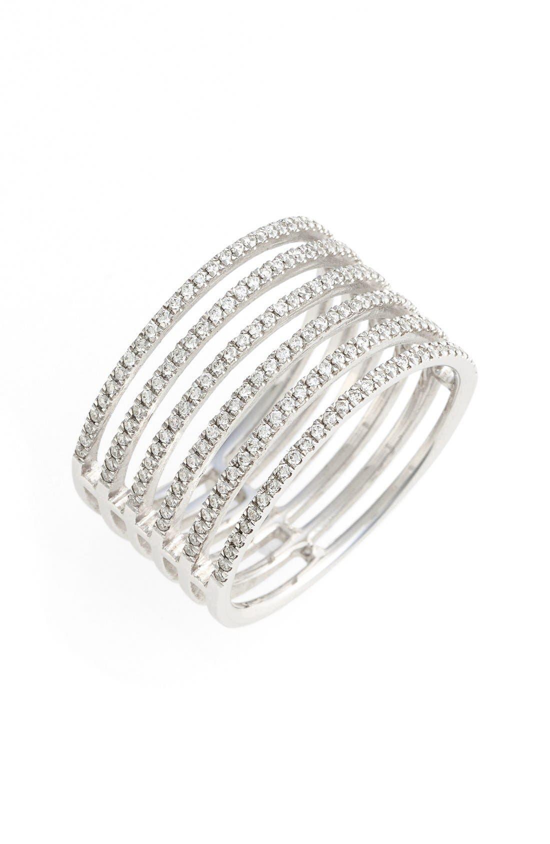 Bony Levy 'Prism' Six-Row Diamond Ring (Nordstrom Exclusive)