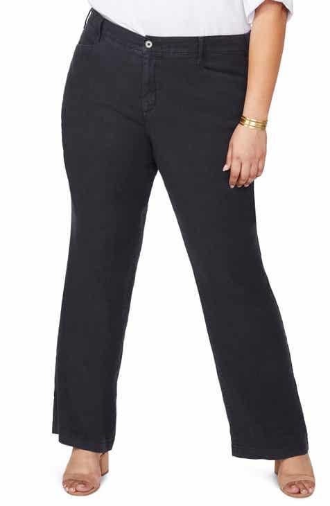 123411cf51c NYDJ Stretch Linen Blend Trousers (Plus Size)
