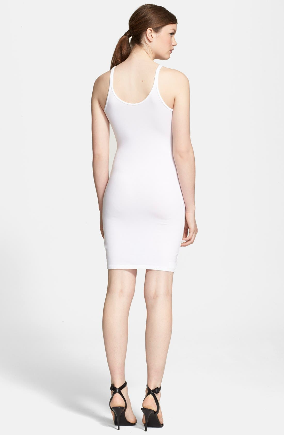 Alternate Image 2  - T by Alexander Wang Stretch Knit Tank Dress
