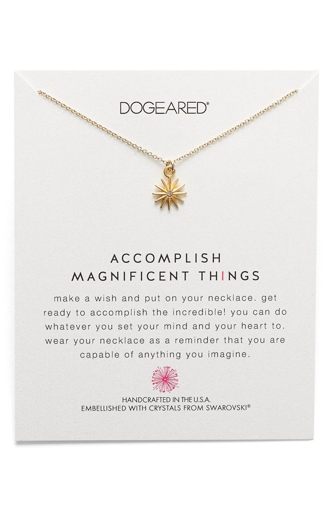 Alternate Image 1 Selected - Dogeared 'Swarovski Reminders' Pendant Necklace