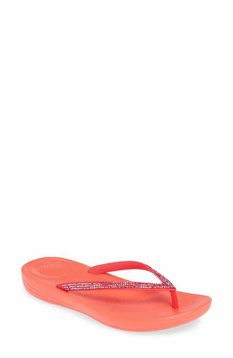 2e129627eb3 FitFlop iQushion™ Crystal Embellished Flip Flop (Women)